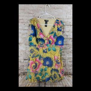 Yellow top Large sleeveless bisou bisou guc